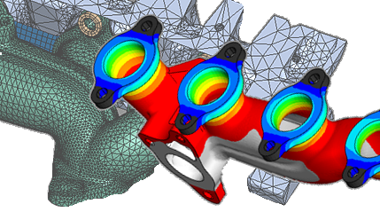Exhaust manifold, thermal FEA